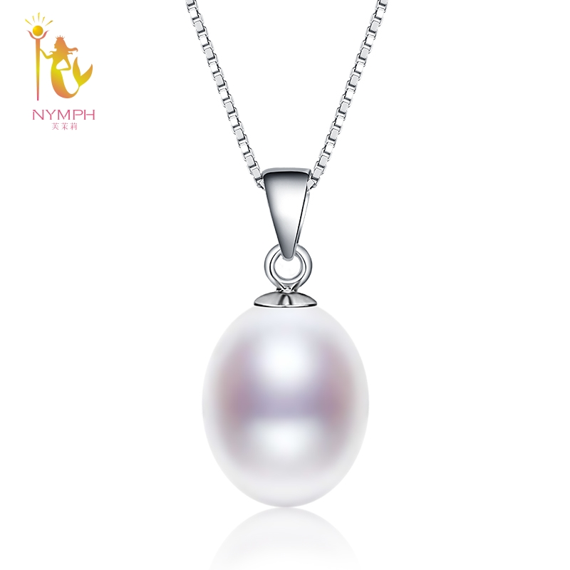 Pearl Necklace Pendant Fine Jewelry 925 Sterling Silver Natural Pearl Jewelry Christmas Party For Women D02