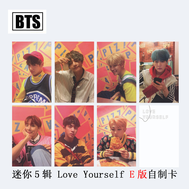 [MYKPOP]BTS Bangtan Boy LOVE YOURSELF E Album Photo Card K-POP New Fashion Paper Cards Autograph Photocard SA18030604