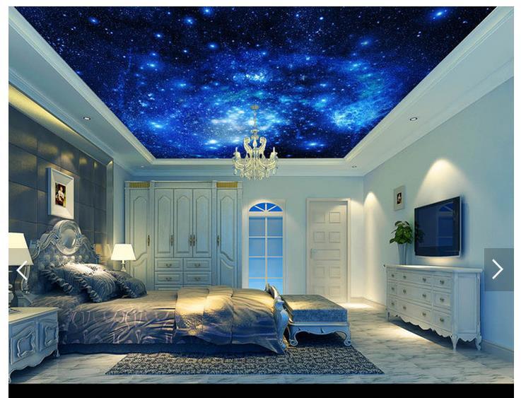3d Fototapete Benutzerdefinierte Decke Tapete Wandmalereien Himmel Sterne Condole Untersttzt Einstellung Wand Universum Wohnzimmer
