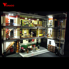Купить с кэшбэком Only Led Light Set For Lego 75827 Building City Street Ghostbusters Firehouse Headquarters Compatible 16001 Blocks LED Toys Gift