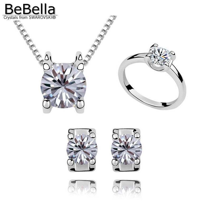 BeBella herz lange kette ohrringe mit perle ohrring zurück mit Kristalle von Swarovski schmuck für frauen mädchen hochzeit geschenk 2018