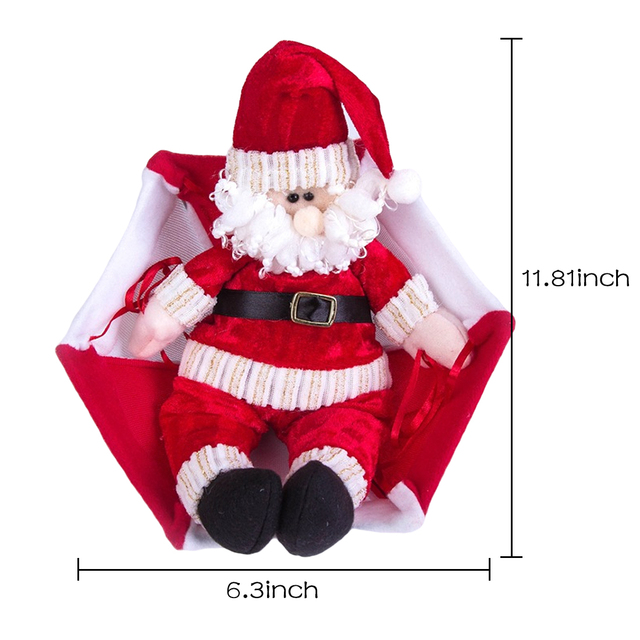 New Christmas Home Ceiling Decorations Parachute 24cm Santa Claus Smowman Year Hanging Pendant Decoration