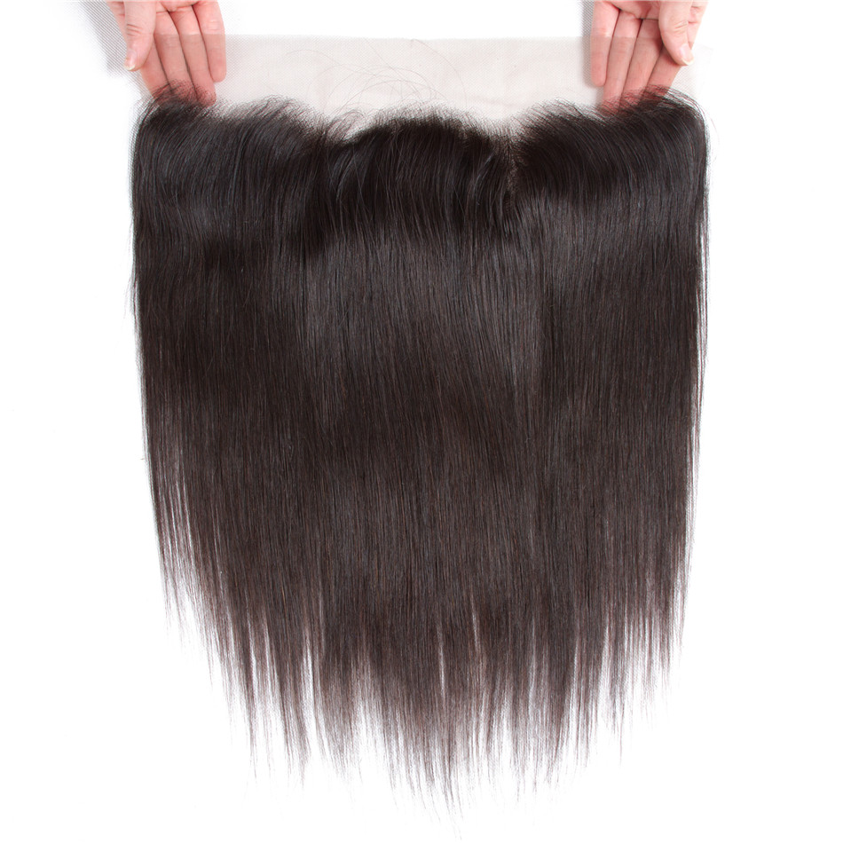 Ably Brazilian Straight 13*4 Ear to Ear Lace Frontal 10-20inch Pre Plucked Natural Hairline 100% Remy Human Hair Free Shipping