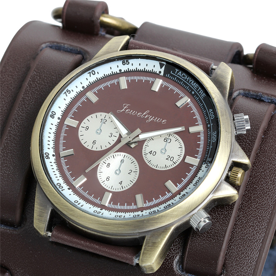 Retro Tachymeter Leather Watch