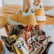 Kawaii Embroidered Expression Women Socks Happy Fashion Ankle Funny Socks Women short Cotton harajuku art cute socks Summer цены