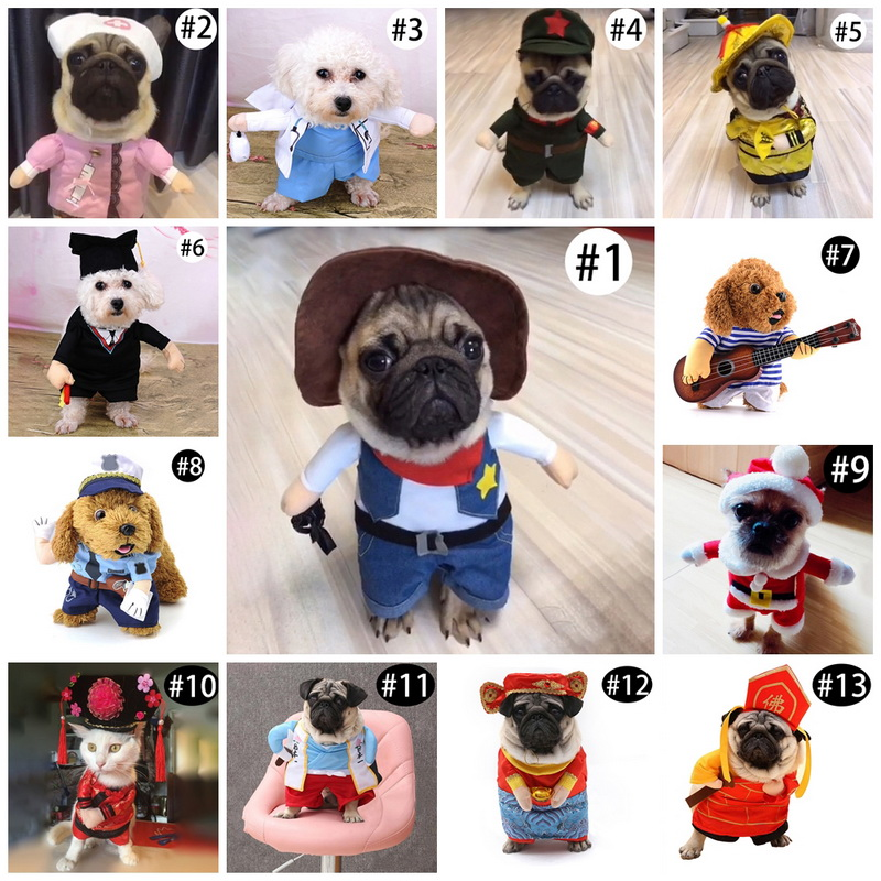 Hoomall 1PC Funny Cute Cats Cosplay Dog Clothes Costume Suits Halloween Pet Dog Cat Costume Fit Party Playing Pet Accessories