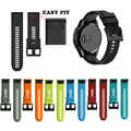 26 22 20MM Quick Release Easy Fit Silicone Watch Wrist band Strap for Garmin Fenix 5X Plus /Fenix 5 Plus/ Fenix 5S Plus Watch