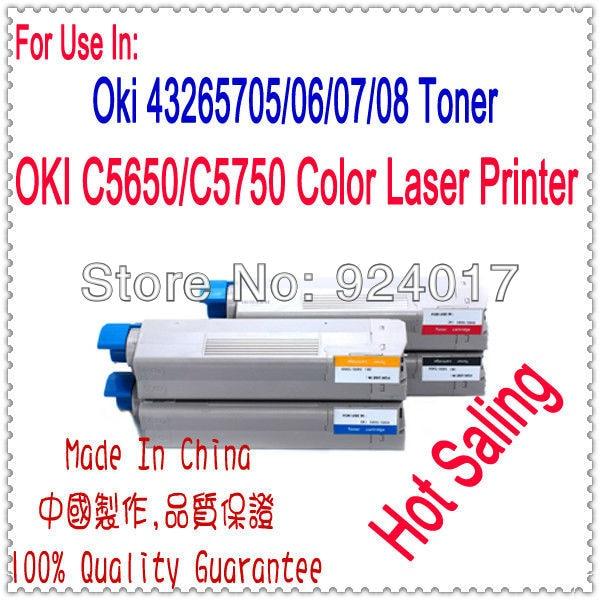 Cartouche de Toner pour imprimante Oki C5650 C5650N C5650DN C5750 C5750N C5750DN, pour cartouche de Toner couleur Oki C5650 C5750 5650 5750Cartouche de Toner pour imprimante Oki C5650 C5650N C5650DN C5750 C5750N C5750DN, pour cartouche de Toner couleur Oki C5650 C5750 5650 5750