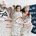 Вязаные Одеяла KAMIMI 2017 весной новый ребенок зонтик печатных 100% хлопок пеленание Мягкое одеяло Детское Постельное Белье Набор
