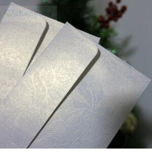 Image 2 - White Floral Embossed Envelope Invitation Gift Envelopes
