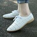 La primavera y el verano de 2016 señaló los zapatos de cuero zapatos casuales zapatos blancos