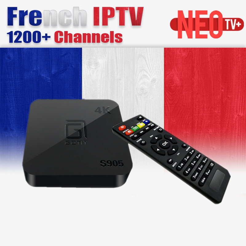 все цены на  French IPTV Box Arabic IPTV S905 Android TV Box NEO IPTV Europe French Arabic Tunisia Morocco Spain PayTV Smart Set top Box  онлайн