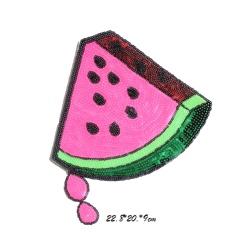 embroidery sequins watermelon patches for jackets banana badges for jeans appliques for coats A211 in Patches from Home Garden