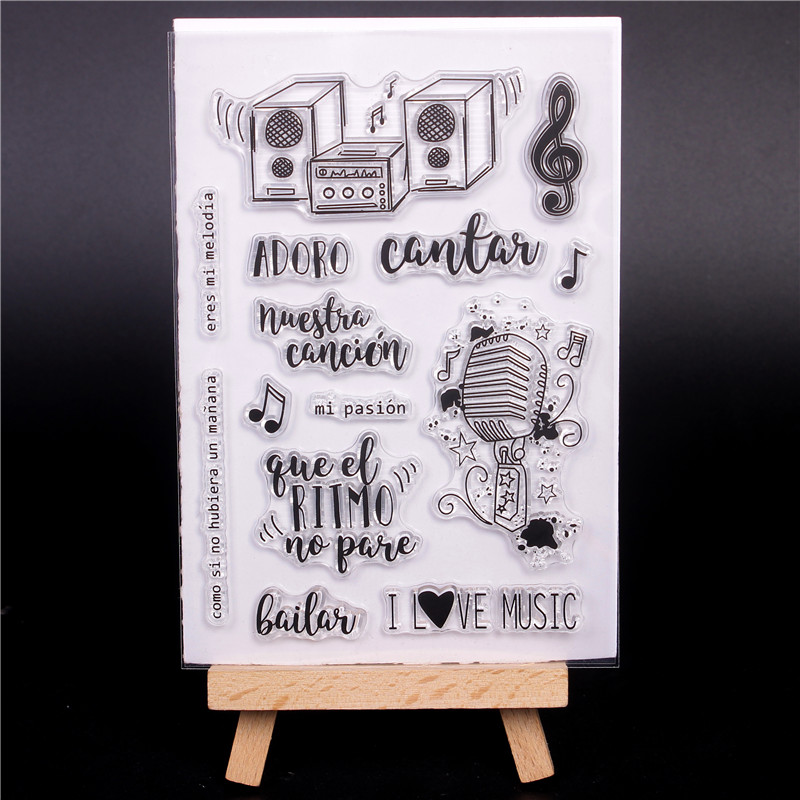 Spanish word Cute Transparent Clear Silicone Stamps for ...