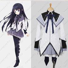Puella Magi Madoka Magica Homura Akemi Cosplay Costume Custo