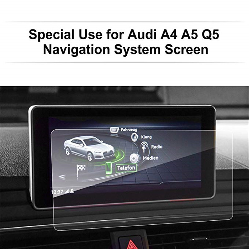 For <font><b>Audi</b></font> <font><b>A4</b></font> A5 8.3 Inch <font><b>2017</b></font> 2018 Car Navigation Screen Protector Tempered Glass in-Dash Screen Protector image