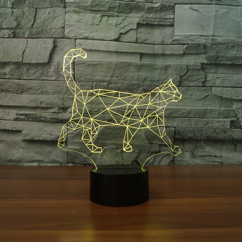 3D Visual Light 7 Color Changing Night Light for christmas gifts USB Touch Table Lampara ...