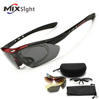 RU 5 Lenses Polarized Sports Sunglasses Cycling Fishing Driving Glasses Mountain Bike Bicycle Riding UV Protection