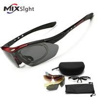 RU 5 Lenses Polarized Sports Sunglasses Cycling Fishing Driving Glasses Mountain Bike Bicycle Riding UV Protection