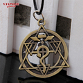 High Quality Full Metal Alchemist Edward Steel Pendant Necklace Cosplay Best Gift Movie Jewelry Wholesale Anime Series Necklace