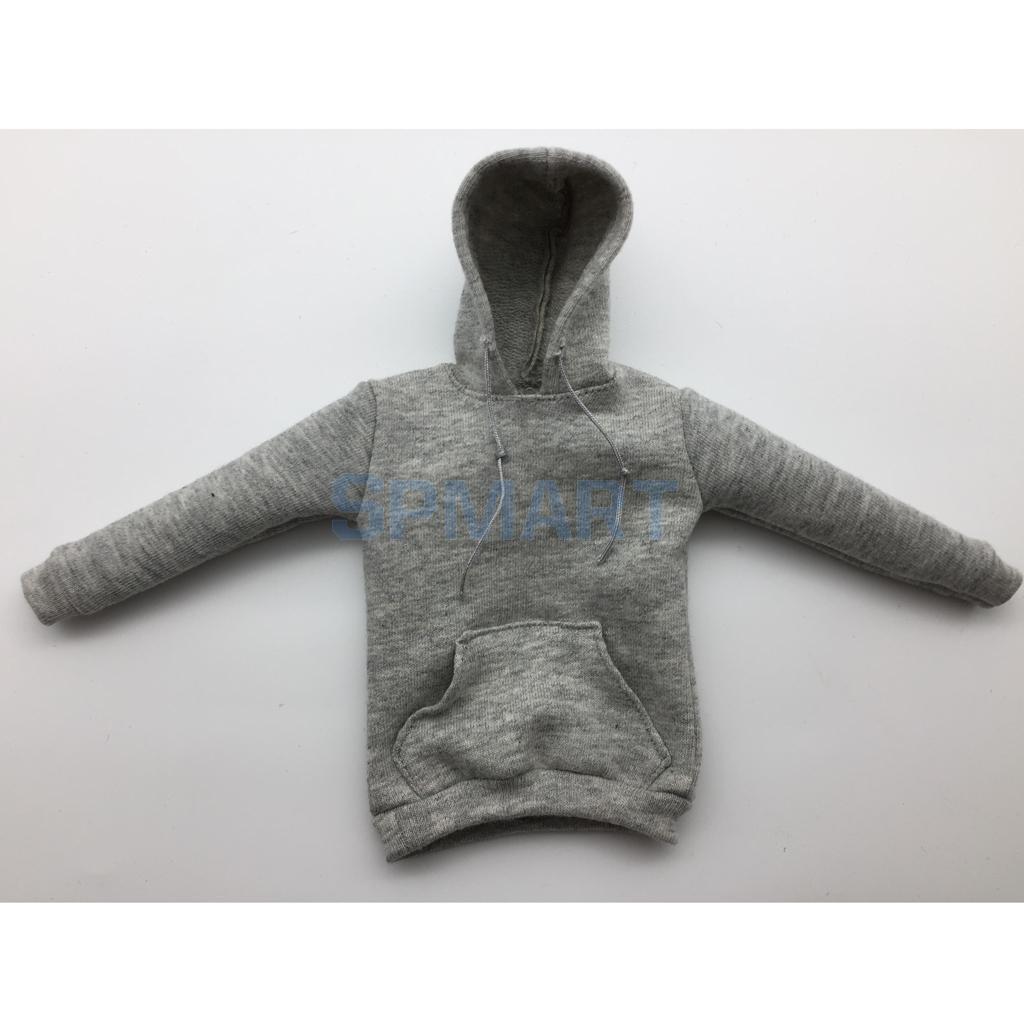1//6 Fashion White Cloth Hoodie Sweatshirt for 12/'/' Sideshow Male Figure Body
