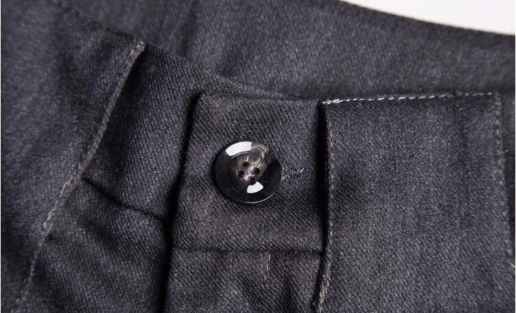 Más Gruesa Negro Niñas Invierno Y De Casual Alta Moda gris Pantalones 2018 Caliente Ancha Ropa Otoño 79033 Pierna Cintura Tamaño Mujeres XnwxHOXpv