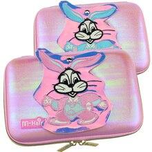 купить kawaii pencil box color girls stationery box rabbit cartoon mirror Eva stationery bag пенал для карандашей по цене 871.15 рублей