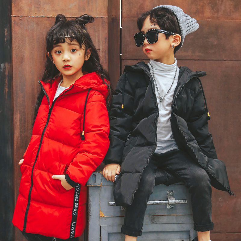 30 Degrees Girls Down Jacket Clothing Warm Boy Snow Wear Winter Thicken Parka Hooded Children Outerwear Coats 3 14 Y