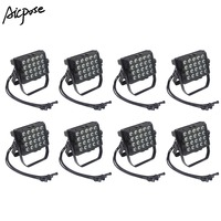 8Pcs/lots 20pcs 18W Led Lamp IP65 Waterproof Wall Washer Light RGBWA UV 6in1/4in1/5in1 Led 20*18w Rainproof Stage Lighting