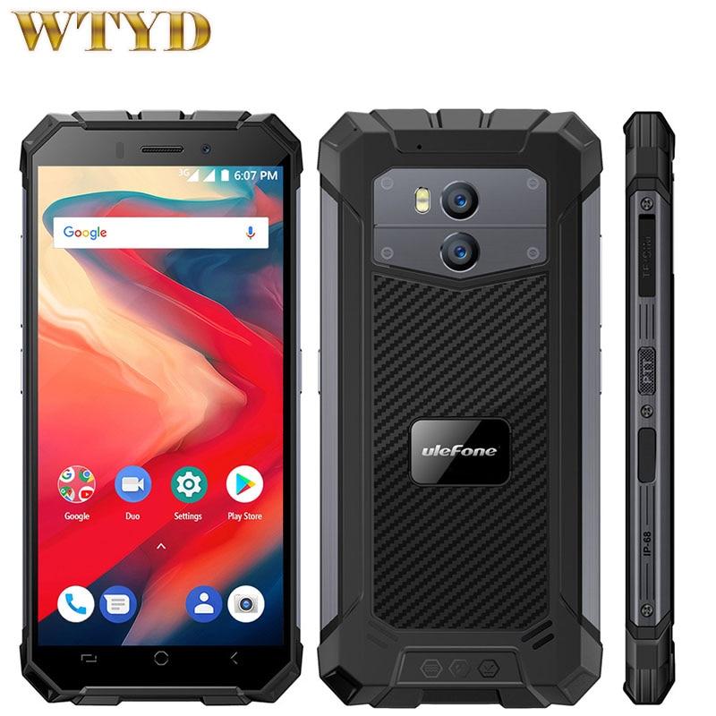 """Ulefone Armadura X2 IP68 Smartphones 5.5 """"HD 2 GB 13MP MTK6580 16 GB 189 Quad Core Android 8.1 Oreo NFC 5500 mAh 3G Telefone À Prova D Água"""