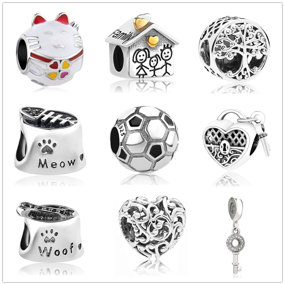 Good 2019 New Regal Heart Sweet Home Bead Fit Original Pandora Charms Silver 925 Bracelet Trinket Jewelry For Women Man Making Mix001 Attractive And Durable Jewelry & Accessories