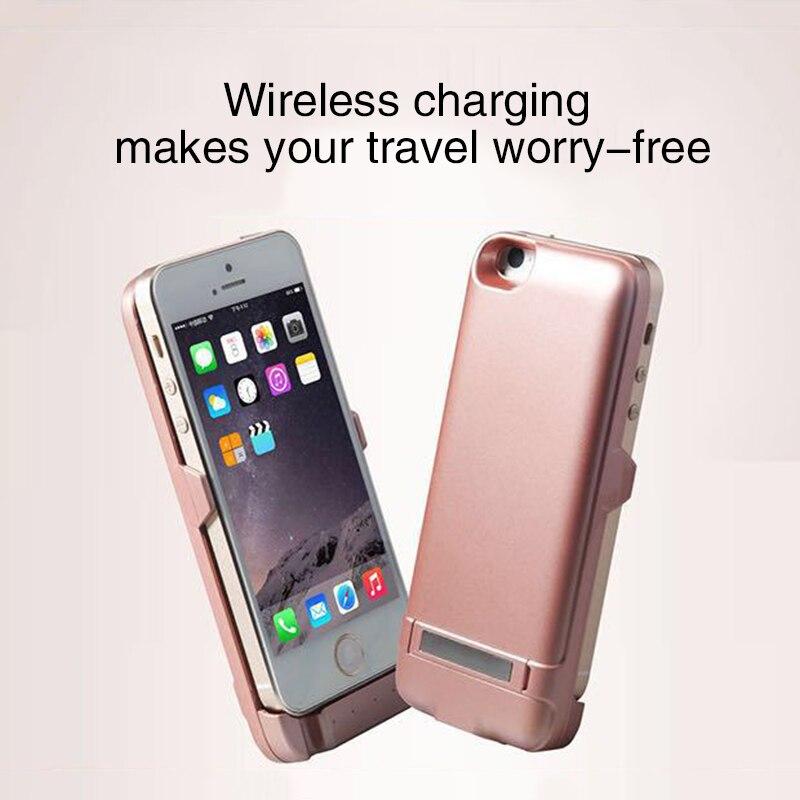 imágenes para Nuevo caso del cargador de batería externa 4200 mah de copia de seguridad para iphone 5 5s se 4200 mah emergency power bank caso de la cubierta
