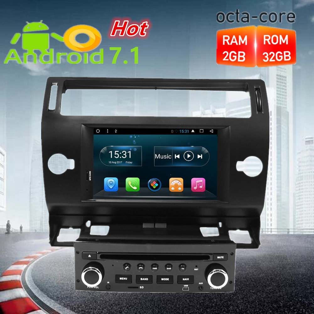 octa core android car radio dvd player gps navigation multimedia stereo for citroen c4 c. Black Bedroom Furniture Sets. Home Design Ideas