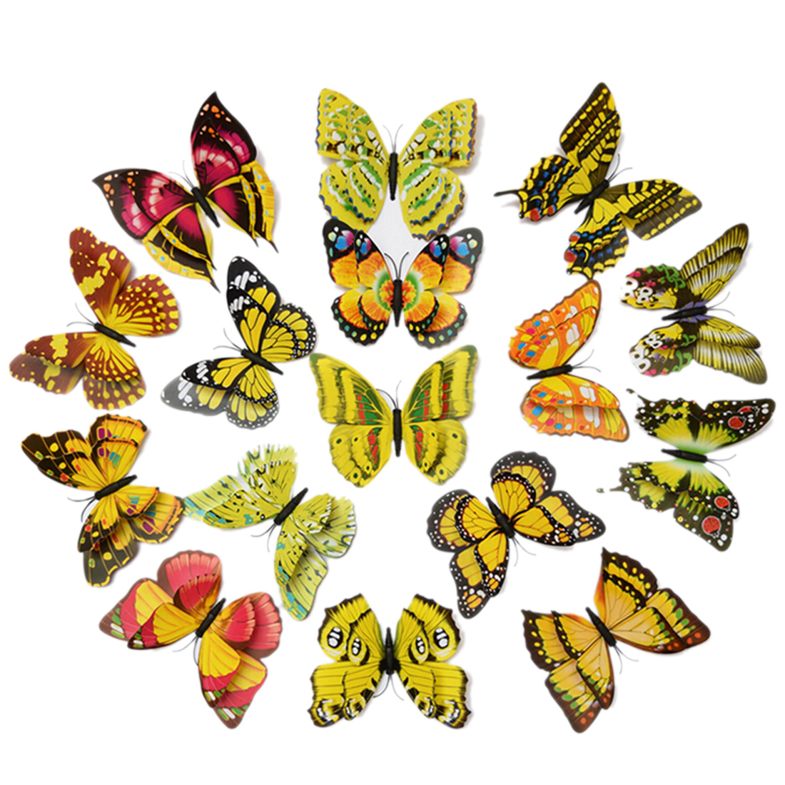 New 12pcs PVC 3D Butterfly Wall Stickers Butterfly Wall Decor ...