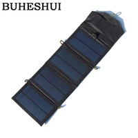 NWE 7W Solar Charger Foldable Mono Solar Panel Chager For Iphone Mobile Power Bank Battery Charger