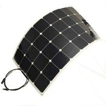Solarparts 4pcs 100w mono semi flexible solar panel module for boat RV outdoor aa aaa usb