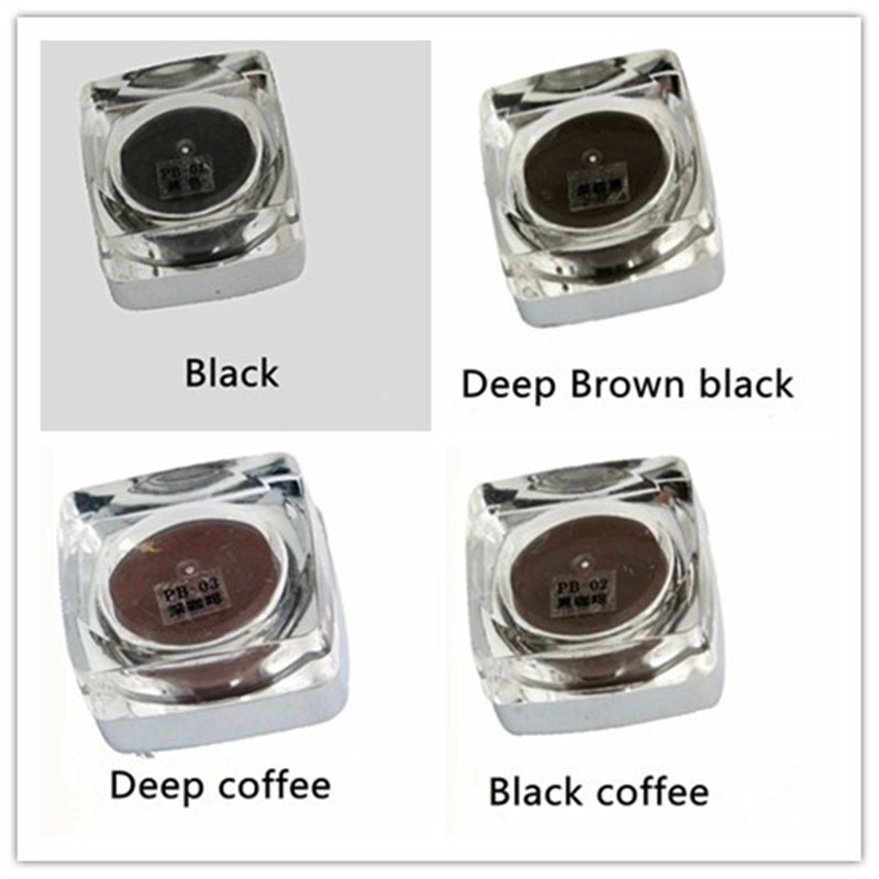4 Colors Square Bottles PCD Tattoo Ink Pigment Professional Permanent Makeup Ink Supply Set For Eyebrow