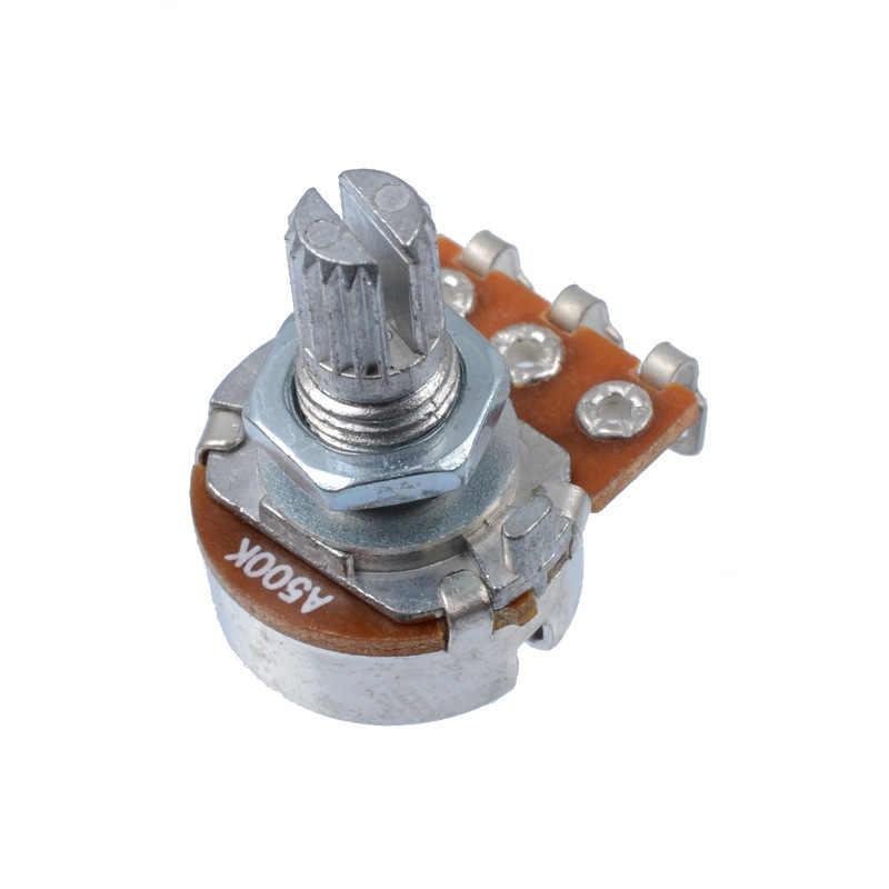 A500K Split Shaft Pentole Potenziometro Chitarra Tono Audio Parti di Chitarra Manopola Interruttore