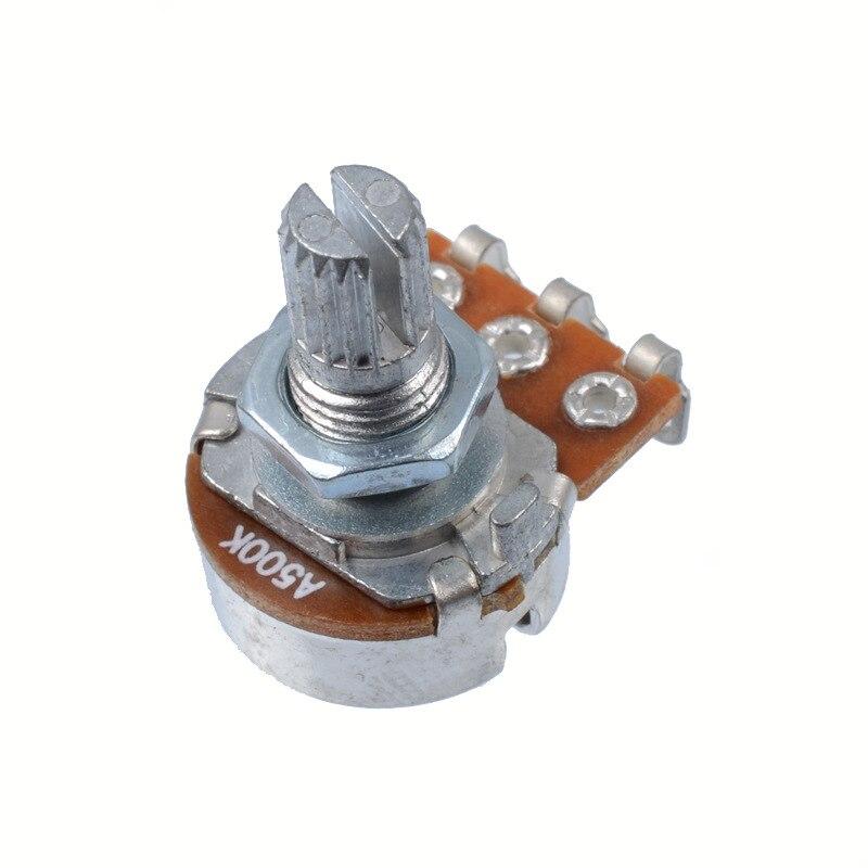 A500K Split Shaft Pots Potentiometer Guitar Audio Tone Guitar Parts Switch Knob