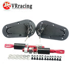 VR RACING - JDM D1 Plus Flush Hood Latch and Pin Kit Racing Latch Locks Locking Hood Kit VR-BPK-D21
