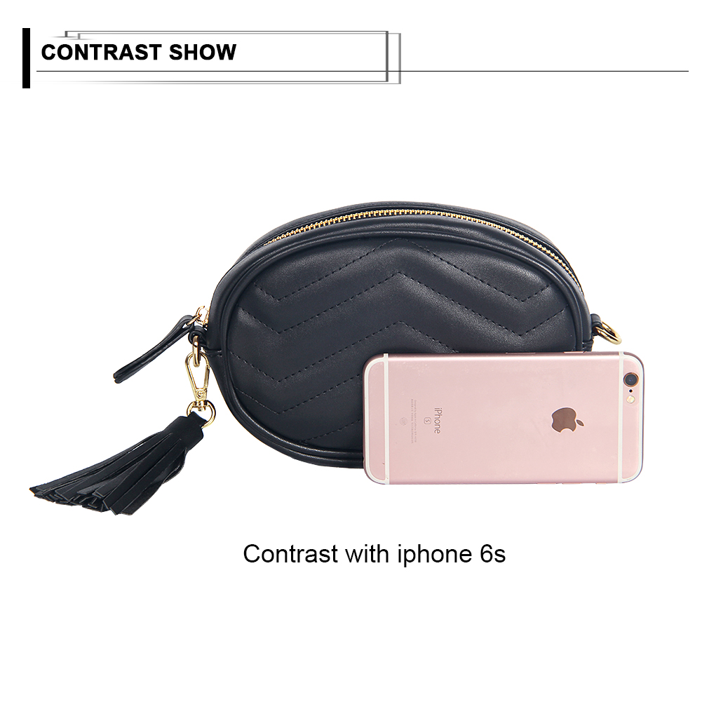 7c4d4e5caa0 Solid Belt Bag Women Tassel Designer Pu Leather Waist Bags Ladies Box Fanny  Packs Female Large Wallet Phone Packing-in Waist Packs from Luggage & Bags  on ...