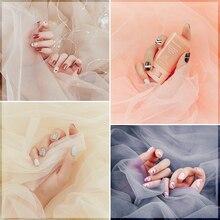 Fotografia Backdrops jasny tiul gaza Studio zdjęcie tło tkaniny dla pięknych paznokci kolczyki bransoletka fotografia kosmetyczna