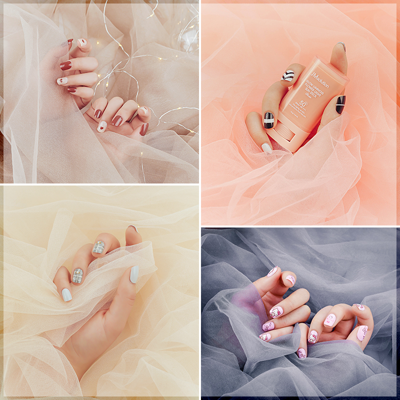 Photography Backdrops Bright Tulle Gauze Studio Photo Background Cloth for Beautiful Nails Earrings Bracelet Cosmetic Photograph(China)