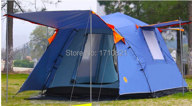 High quality automatic double layer tent outdoor 3 - 4 camping tent square outdoor bivvy tent mobi outdoor camping equipment hiking waterproof tents high quality wigwam double layer big camping tent