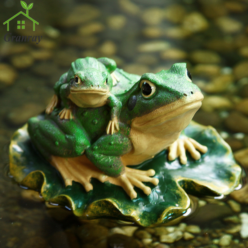 Creative Resin Crafts Garden Animals Floating Water Frog Ornaments Outdoor  Garden Decorations 1 Piece Free Shipping In Figurines U0026 Miniatures From  Home ...