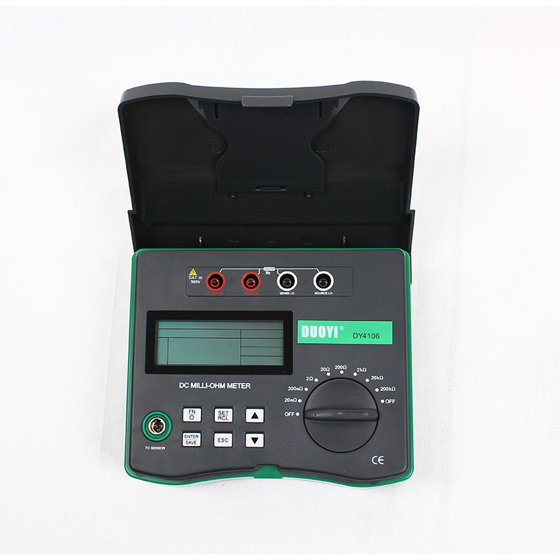 Digital Microhmmeter Resistance Tester DY4106 100 u 200k ohm With Temperature Compensation