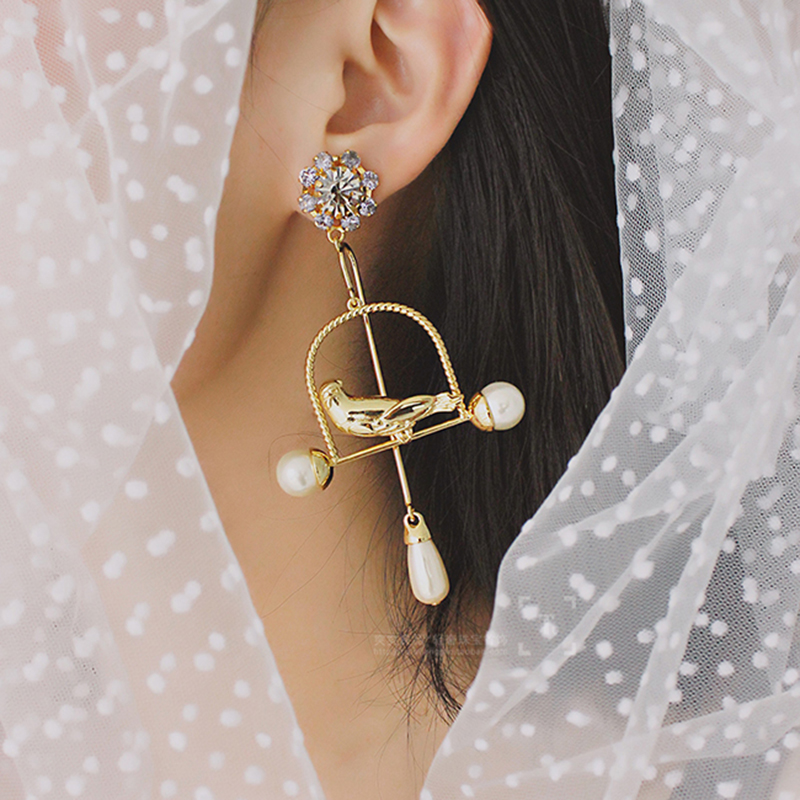 Baroque Vintage Style Bird Earring CLOVER JEWELLERY