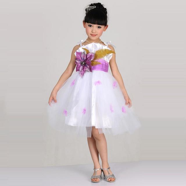 Dance Dress Kids Childrens Singer Costume Princess Girls Choir
