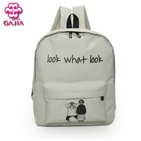 Factory Outlets Direct Student Book Bag Backpack High Quality Canvas Preppy Style Girl Kawaii Fashion Backpack