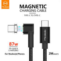 Mcdodo 87W PD USB Cable Type C To Type-C 4.5A For Samsung S10 S9 Huawei Switch Macbook Notebook Magnetic USB Charger Data Cable